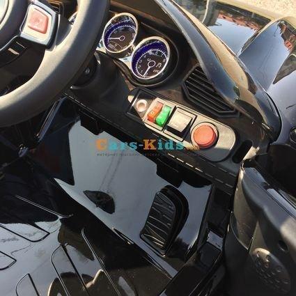 Электромобиль Porsche Sport М777МР черный (резиновые колеса, кожа, пульт, музыка, ГЛЯНЦЕВАЯ ПОКРАСКА)